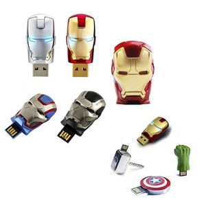 Marvel USB Flash Drive Avengers Iron Man America Captain Hammer Hulk USB QTA-2003
