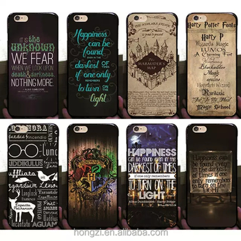 3 d cartoon animation Harry potter Magic school the text pattern design phone case cover for iPhone 5 6 6 plus se