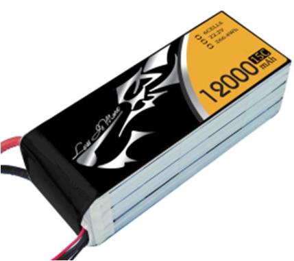 High Multiplying Power UAV LIPO Battery 12000mAh 15V 25C XTA12 Series