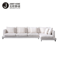 2018 new design italian style 5 seats living room fabric sofa set