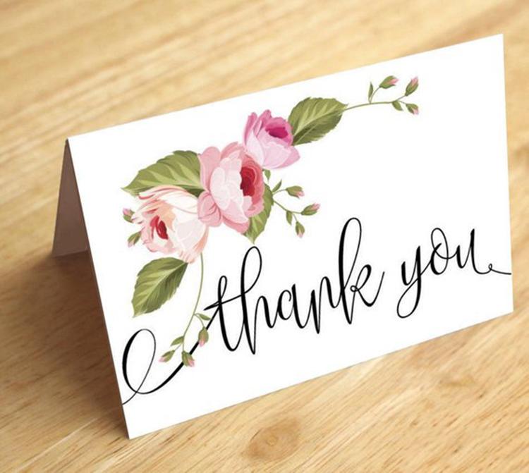 Открытки благодарности на свадьбу