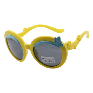 Wholesales cute colorful girl baby child sunglasses elastic for kids
