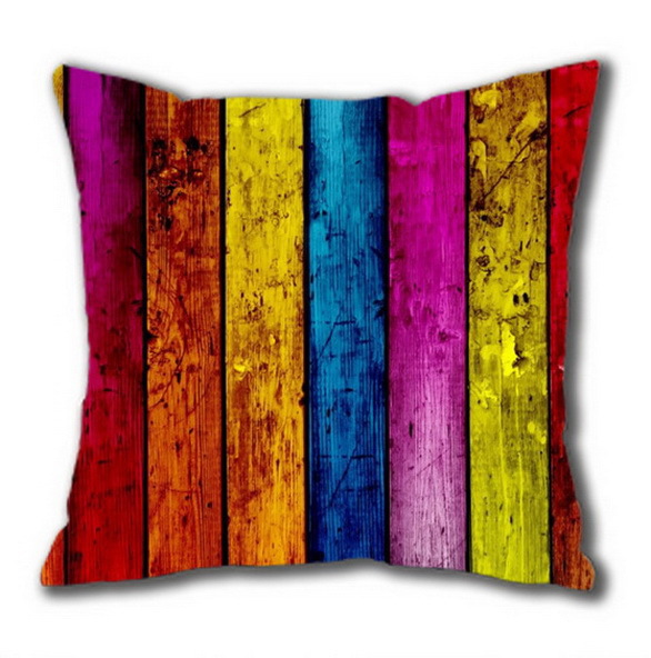 Colorfull wood Background Custom square Pillowcase, Personalized Pillowcase(40x40cm) Twin Sides