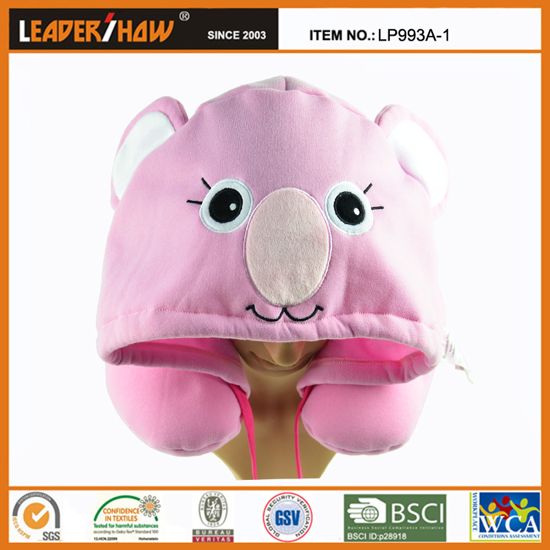 Leadershow patterned hoodie pillow with hood produced by 11 years factory