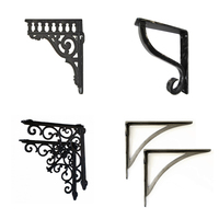 Antique Style Cast Iron Black Metal Shelf Brackets