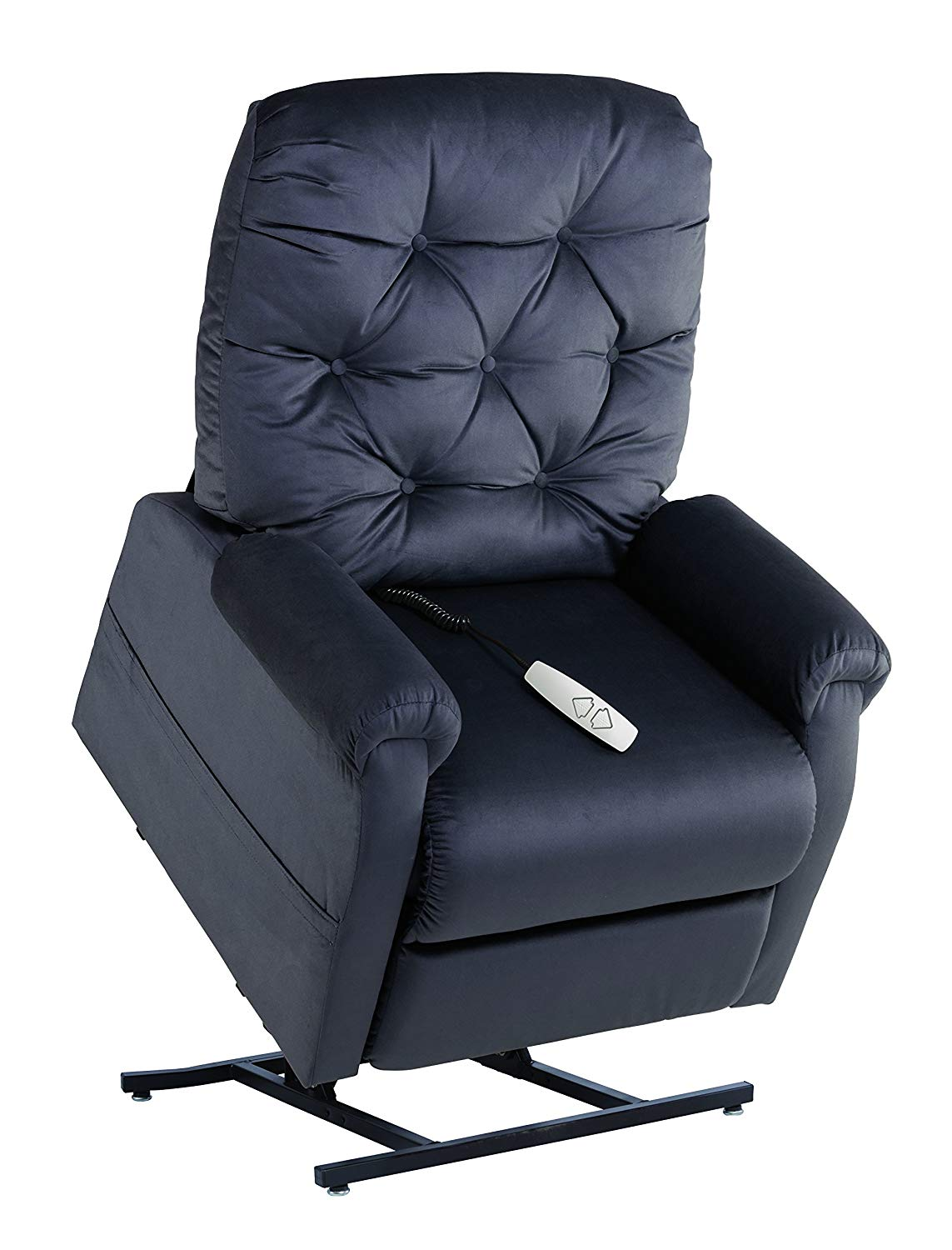 Mega Motion NM200 Alfred Power Recline with Lift Option Chair, Medium, Charcoal