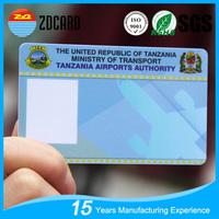 Customer Printed Plastic PVC ID card/Employee ID Card/Staff ID Card