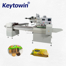 Automatic servo motor biscuit on-edge packing machine