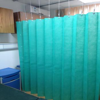 Mint Green Medical Materials Accessories Properties Anti Bacterial Hospital Curtain