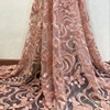 2018 High Quality Fashion thick pink pearl African Lace Embroidered Fabrics For Wedding Dresses DHBF1270