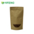 High Quality Stand Up Kraft Paper Bags Food Packaging Bag With Window And Ziplock