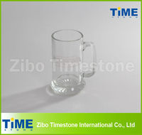 Glass Beer Cup with Deep Etch