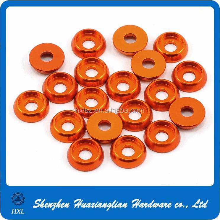 High precision color anodized aluminum countersunk washer