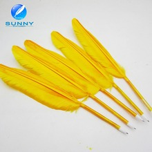 Cheap feather ballpoint pen wholesale feather quill pen for promotion gifts