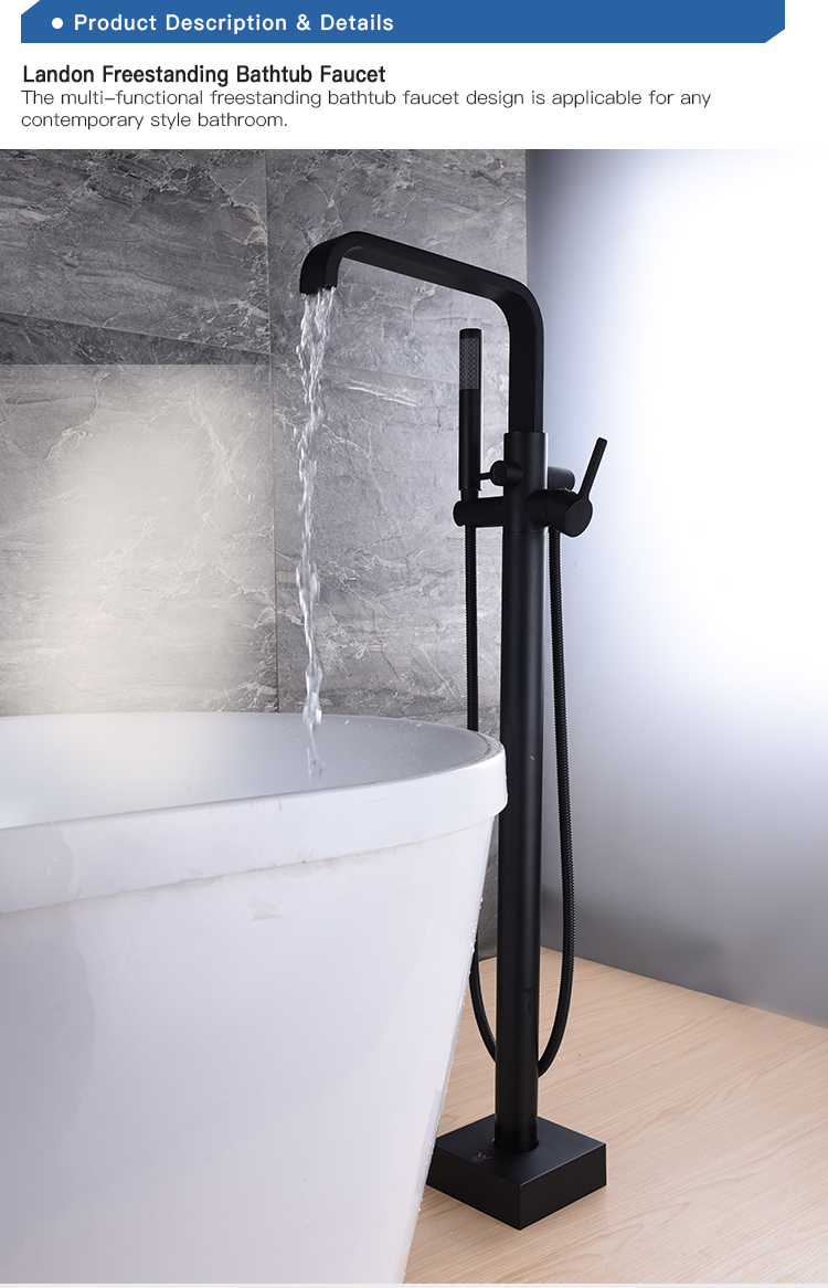 Cupc Watermark Torneira Do Chuveiro Do Banheiro Set Quadrado Preto De Bronze Orb Finish Autônomas Banheira Torneira Misturadora com showerhandle