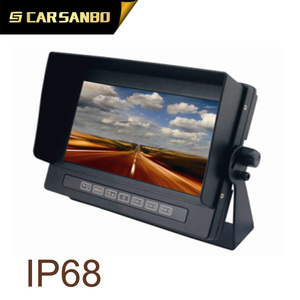 "Bus Truck Dashboard 7"" Rear View Monitor+3x Night Vision Reverse Backup Camera"