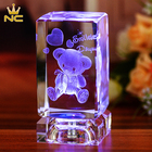 China Engraved Teddy Bear Crystal Baby Favors For New Born Baby Shower Gifts Souvenirs