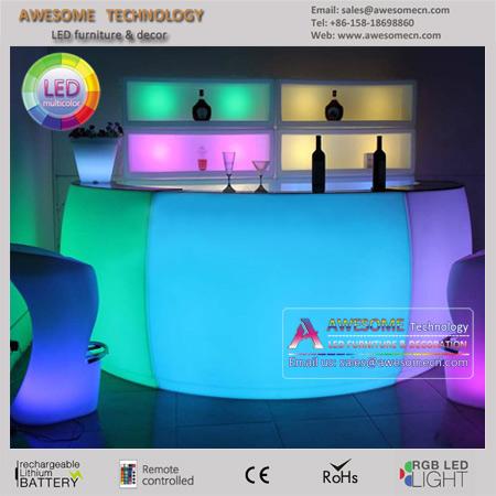 led glow counter / mobile bar counter design / portable counter, Gartenarbeit ideen