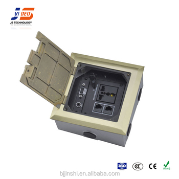 Power And Data Recessed Network Floor Socket Electrical
