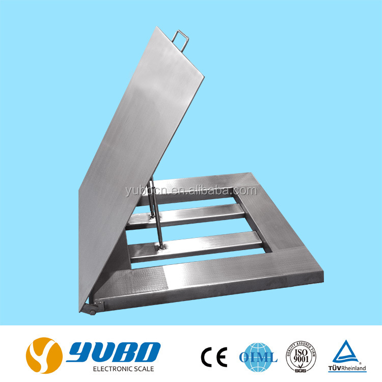 Electronic stainless steel 1000kg waterproof commercial floor scales / platform weighing scale price