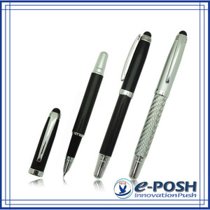 ink cartridge novetly metal carbon fiber style business gift stylus fountain pen