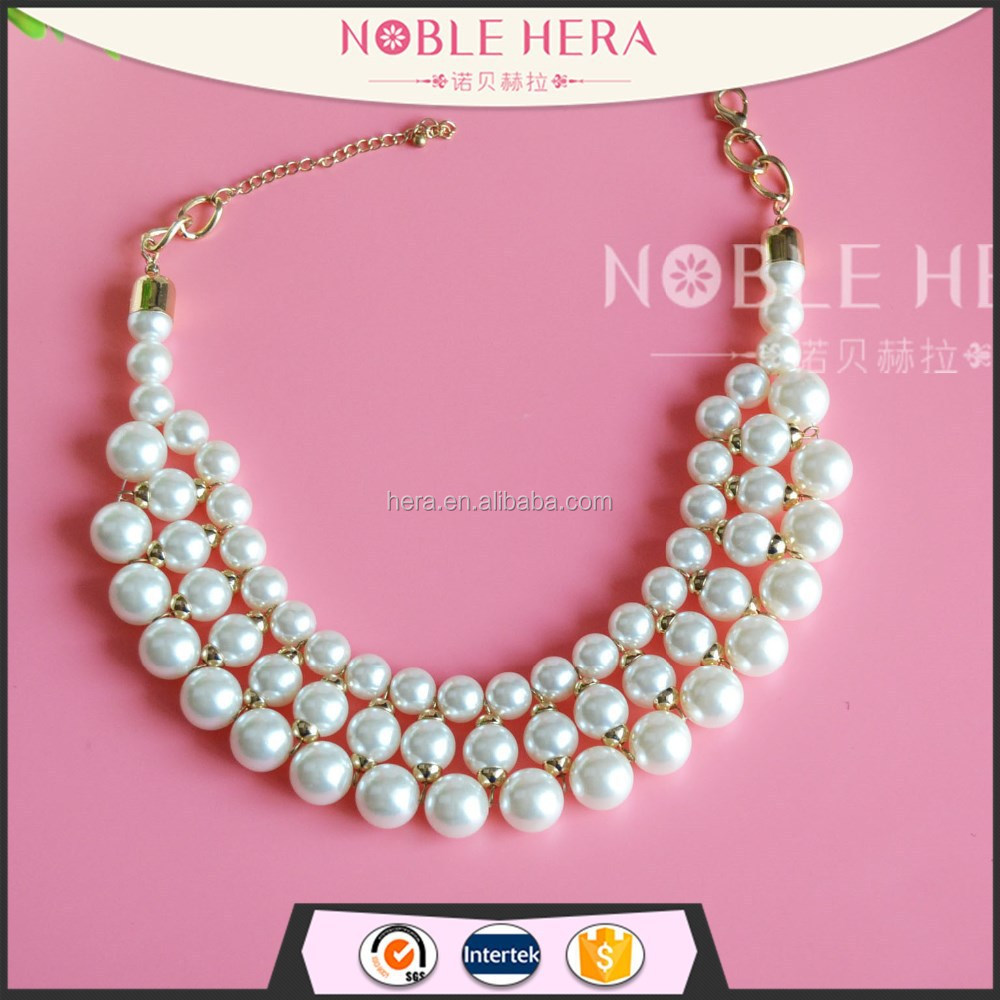 2017 Natural Freshwater ABS Women's Jewelry Pearl Necklace Wholesale 15x