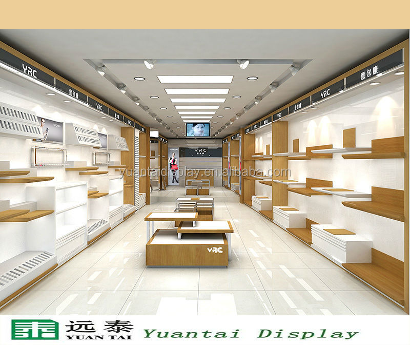 Wood retail store display shelf showcase bag shoe store interior design buy shoe store for Interior design for shoes shop