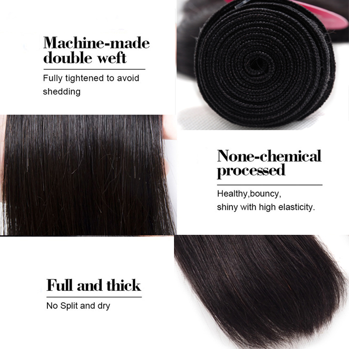 Mongolian Straight Human Cuticle Aligned Virgin Hair Weave Machine Wefts Dropshipping Vendors