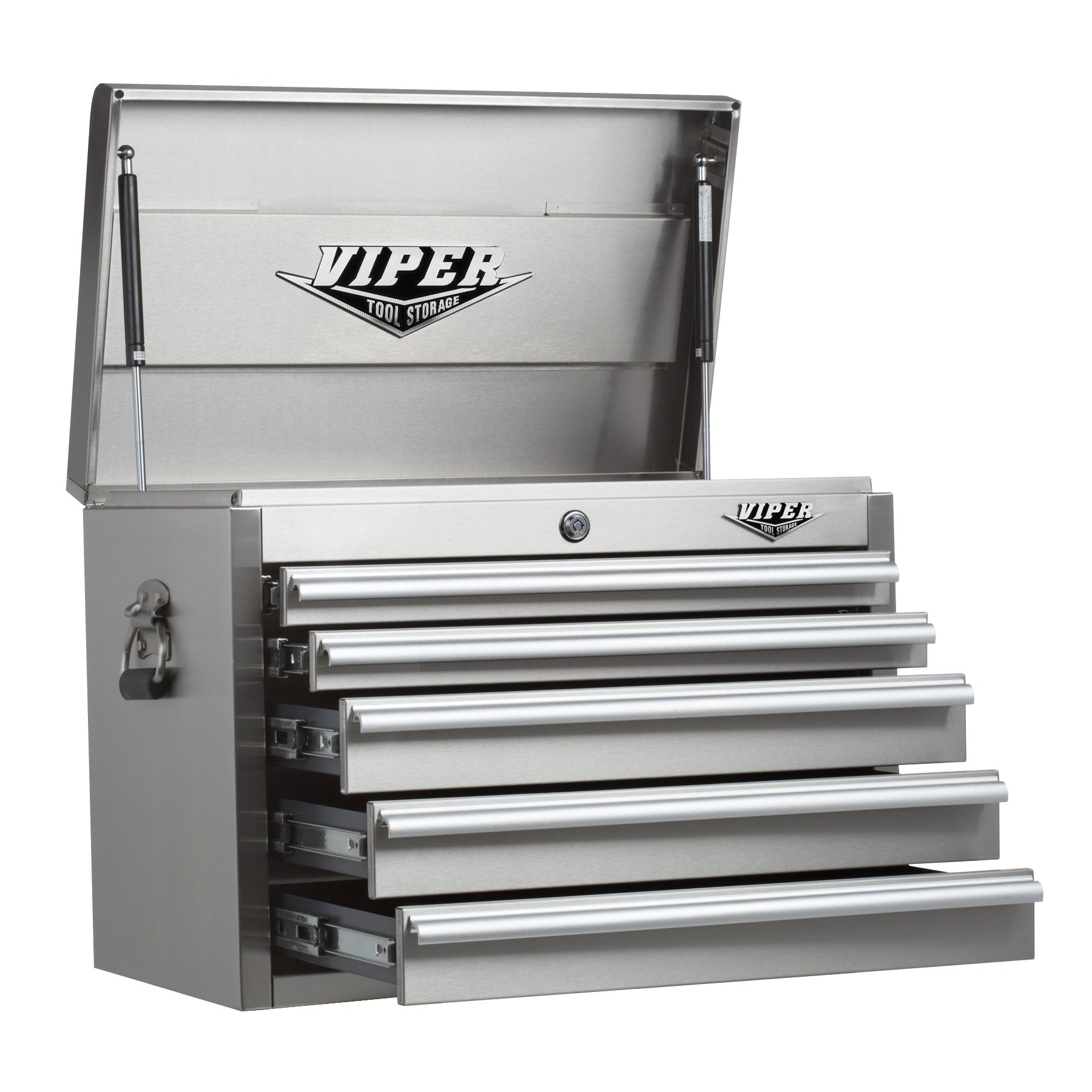 Viper Tool Storage V2605SSC 26-Inch 5-Drawer 304 Stainless Steel Top Chest