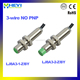 3-wire NO PNP M8 analog inductive proximity sensor LJ8A3-1(2)-Z/BY 300mA M8*52mm