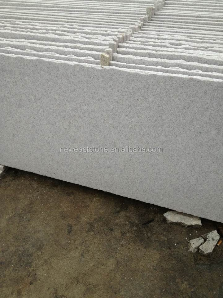 Chinese flamed absolute white grante slab