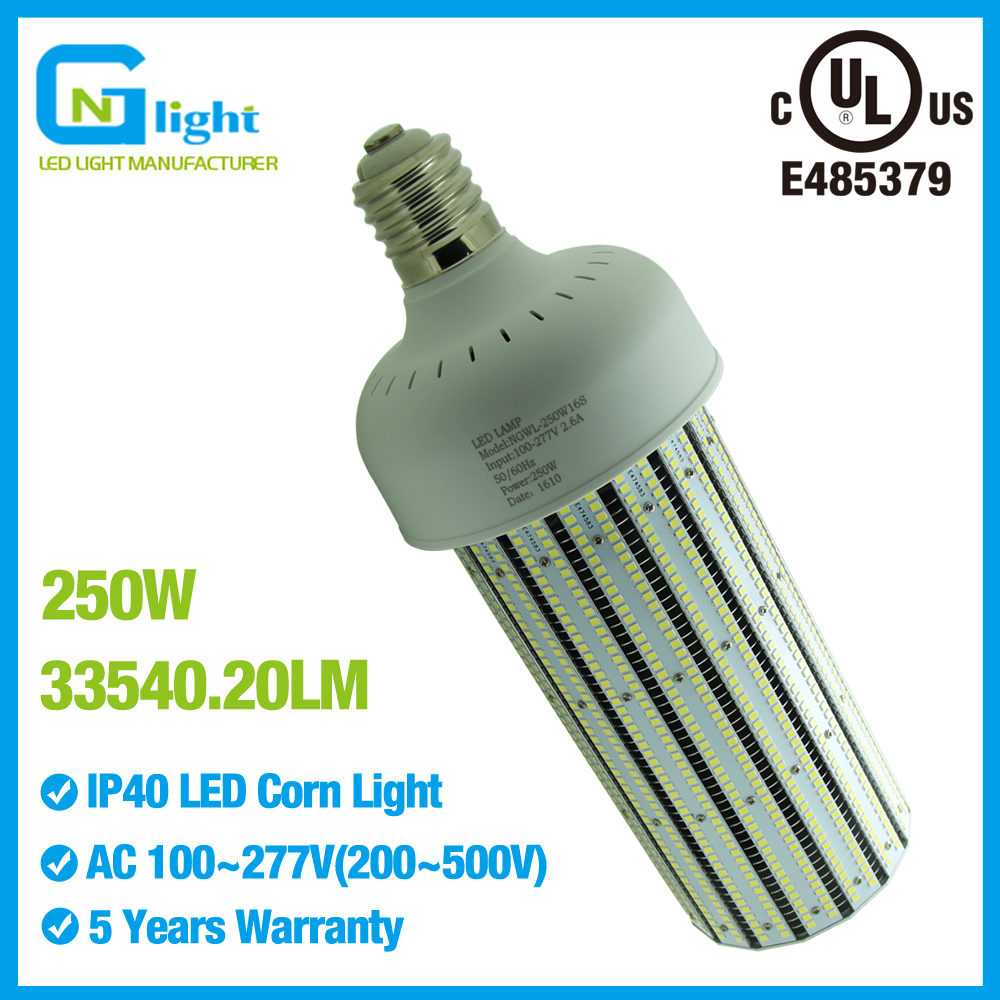 135lm/w 250w e40 led bulb mogul base retrofit 1000w mercury vapor sodium workshop high bay lamp