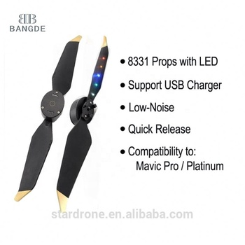 New Low noise quick release 8331 LED Flash Propellers for Mavic Pro Platinum Drone