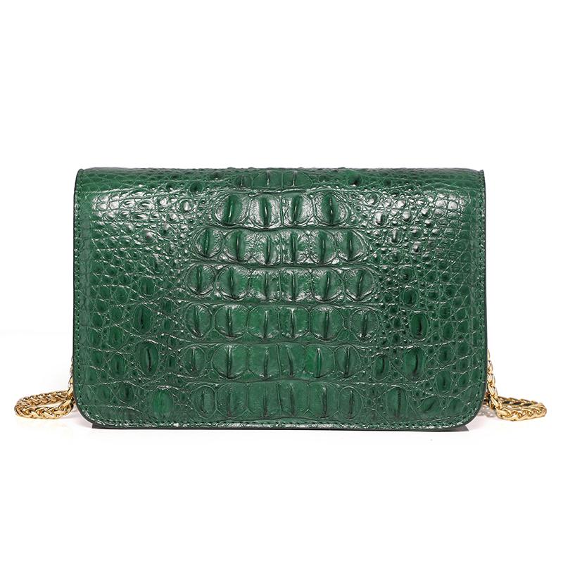 Hundred crocodile shoulder hand aslant female bag