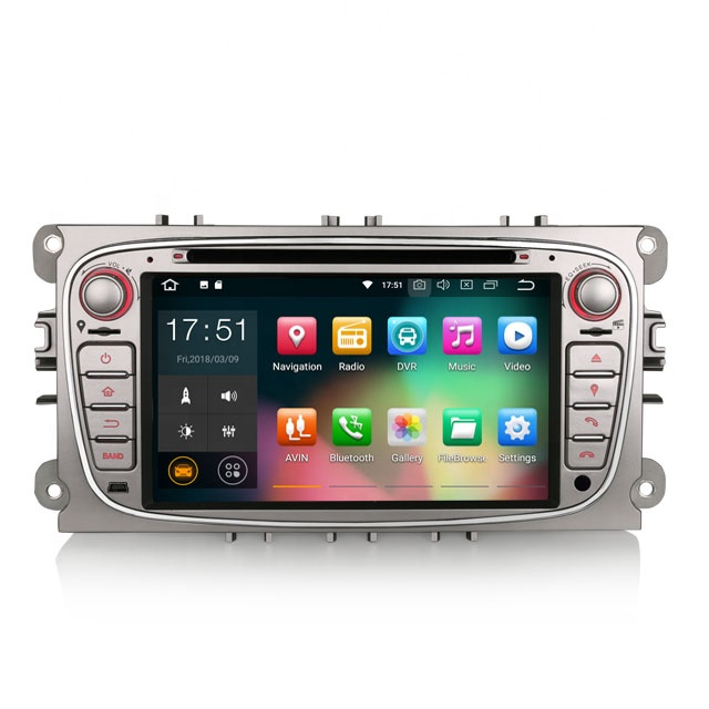 "Erisin ES3809F 7 ""DAB DVD Player Do Carro + Autoradio Tela de Toque Capacitivo Android 8.1 GPS Carro Dvd Player"