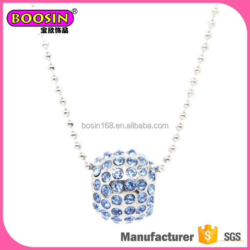 Professional design magnetic silver chain beaded necklace