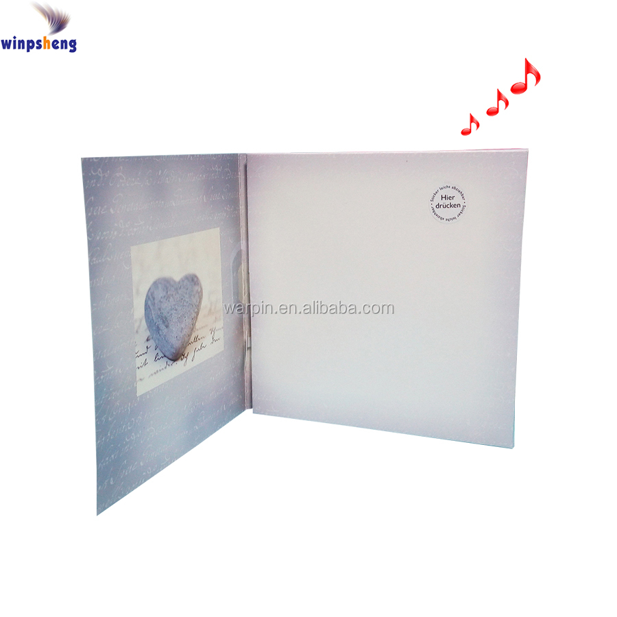 Custom Tender Thoughts Recordable Greeting Cards With Sound Module