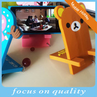 2016 high quality customized new developed 3D soft pvc mobile phone bean bag holder