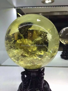 Wholeale natural rock citrine quartz crystal ball/sphere for decoration or gift