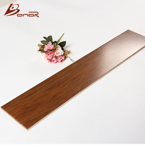 150x800 china modern interior deco style selections wooden floor tile brown wood Grain textured walnut glazed porcelain tile