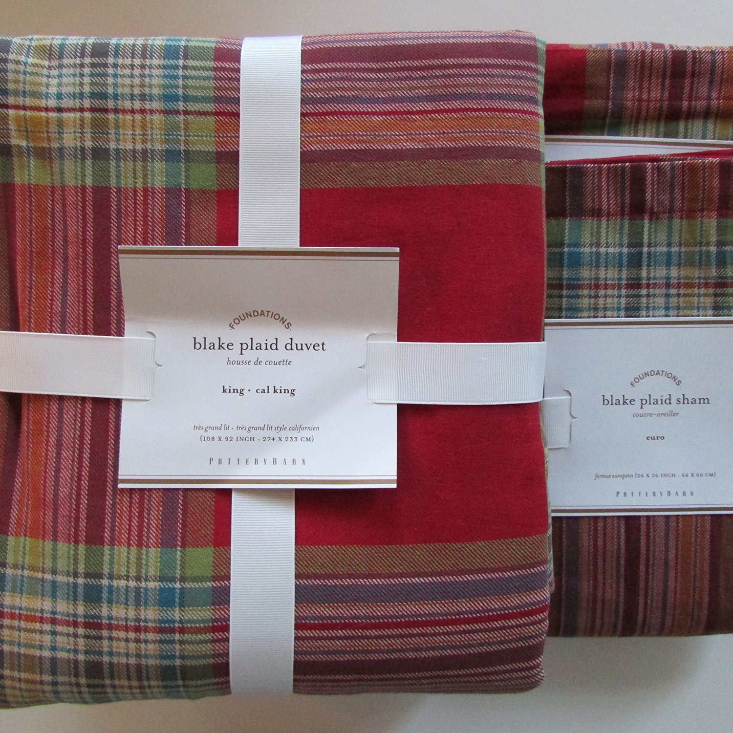 cover product montlake red today set bauer flannel free overstock eddie piece bdcf plaid bath bedding shipping duvet