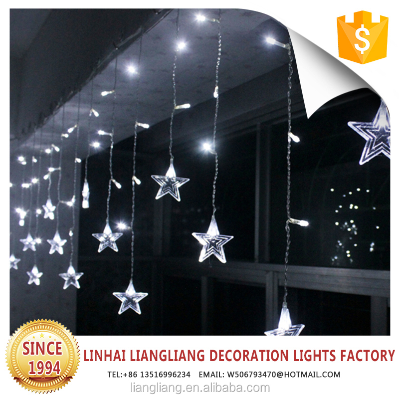 hot selling holiday decorative light star curtain