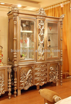 Paris Royal Dining Room Disply Cabinetluxury Hand Carved Wine Cabinet B50601