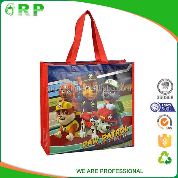 Custom made various size easy carry grocery shopping bags