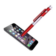 4 in 1 phone holder pen high quality plastic LED light ball pen with lovely logo