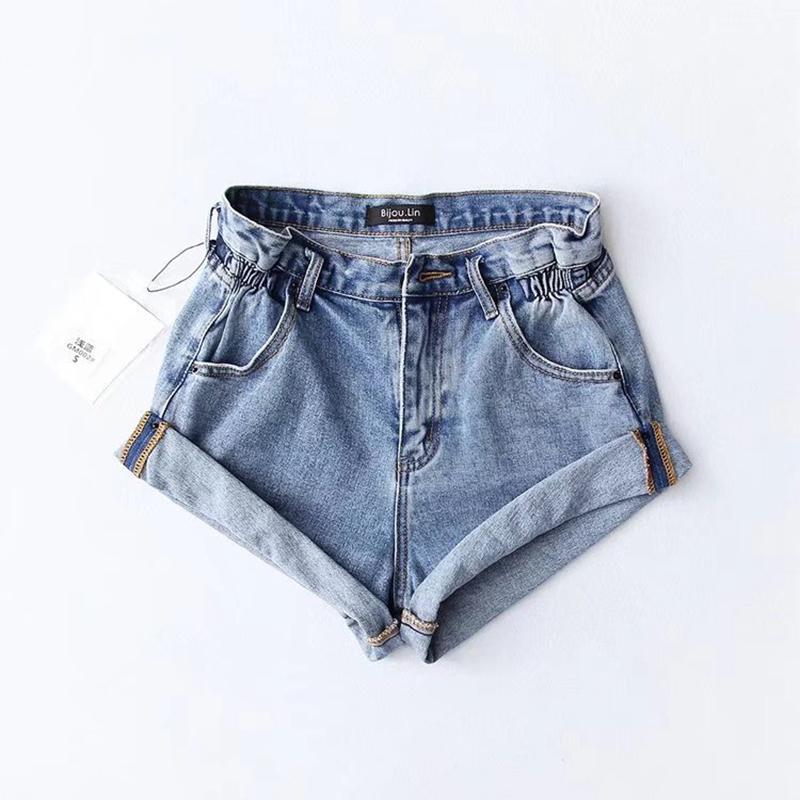 2020 mode frauen sommer hohe taille kurzen jeans