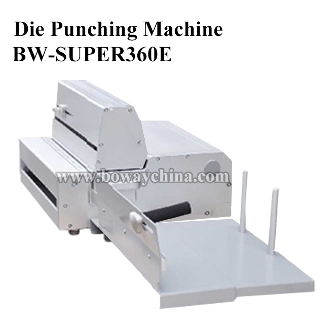 "SUPER360E Semi-automatic 360mm ( 14"" ) changing die punching binding machine"