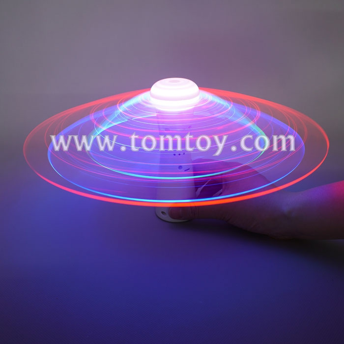 4 LEDs White Plastic Spinner Fiber Optic Spinner Wand