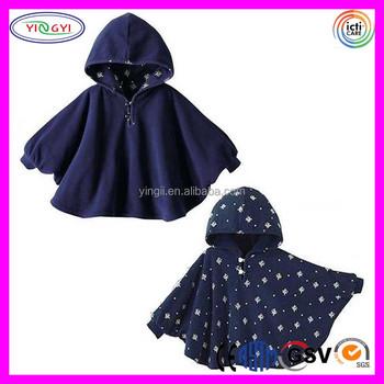 Fleece Deken Baby.C503 Baby Kids Peuter Double Side Wear Hooded Cape Mantel Poncho