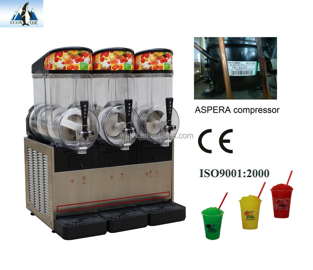 CHINA Triple bowls Slush Granita machine frozen cold drink dispenser